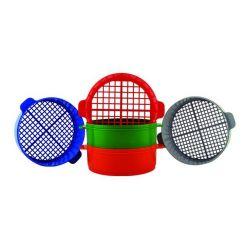 Tamices plástico 50x200 mm PH-112014. Juego 5 mallas 15-7'5 mm