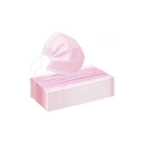 Mascarillas quirúrgicas tipo IIR color rosa. Caja 50 unidades
