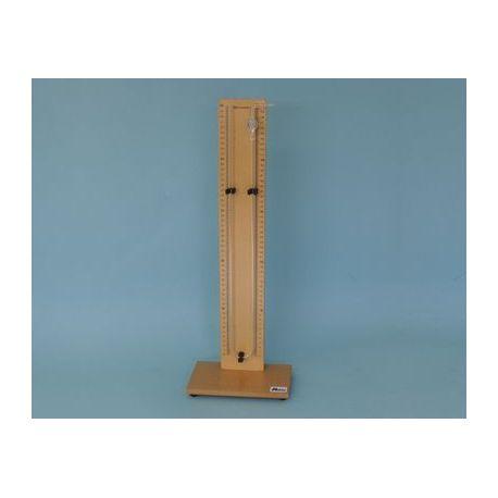 Manómetro en U con soporte QLB-007. Escala 50-0-50 mm