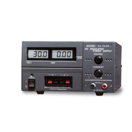Fuente alimentación FA-350. Digital 0...30 Vcc/0...5A
