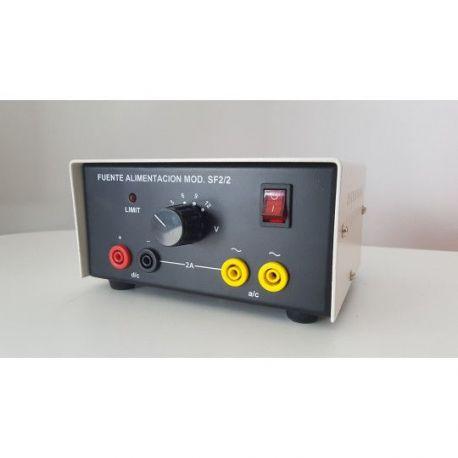 Fuente alimentación ME-92135. Analógica 3-6-9-12  Vcc/2A i Vca/2A