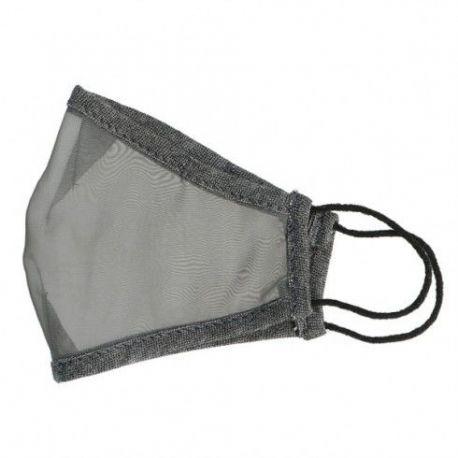 Mascarillas transparentes tela reutilizable color gris. Pack 10 unidades