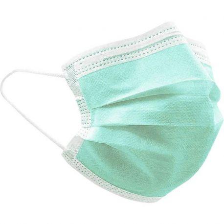 Mascarillas quirúrgicas tipo IIR color verde. Caja 50 unidades