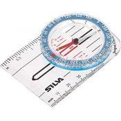 Brújula placa Silva S8. Sin escalas 46x88 mm