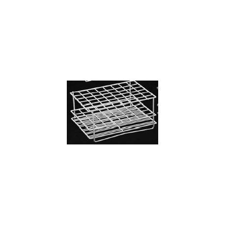 Gradilla acero plastificado adecuada tubos 25 mm. Capacidad 48 tubos