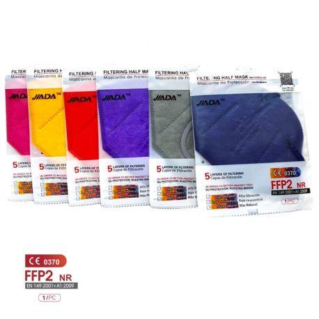 Mascarillas autofiltrantes FFP2 colores sin válvula. Pack 20 unidades