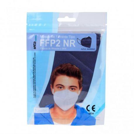 Mascarillas autofiltrantes partículas FFP2 azules sin válvula. Pack 20 unidades