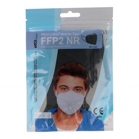 Mascarillas autofiltrantes partículas FFP2 negras sin válvula. Pack 20 unidades