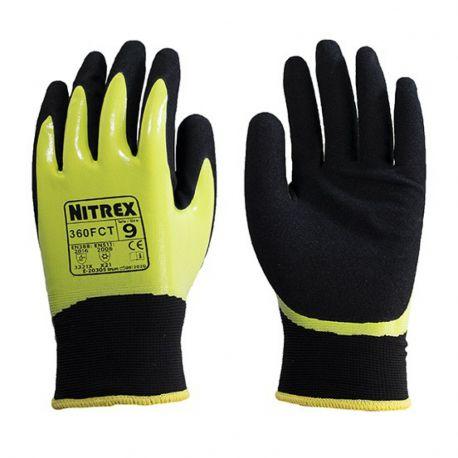 Guantes seguridad téxtiles protección líquidos y frío -15 ºC N-360FCT. Par