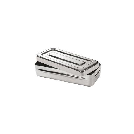 Caja esterilización BTQ-003. Acero inoxidable 190x90x50 mm