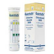 Tiras reactivas cloro diòxido 10-3000 mg/l Quantofix 91357. Caja 100 unidades