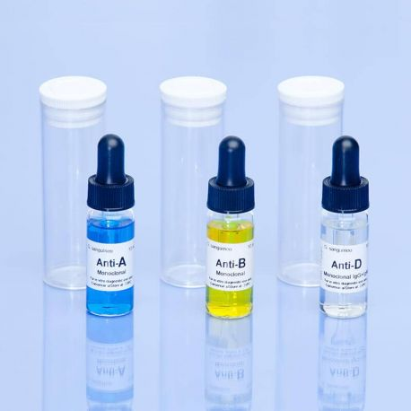 Reactivo grupo sanguíneo anti-D IgG + IgM (Rho) monoclonal. Frasco 10 ml