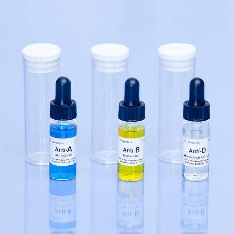 Reactivo grupo sanguíneo anti-B monoclonal. Frasco 10 ml