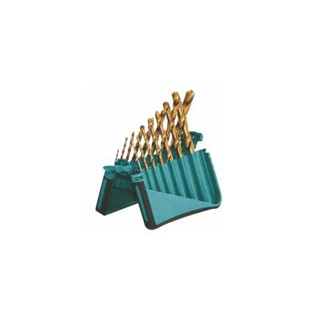Brocas para madera (3) - pared (3) -metal (11) MT-10419. Juego 17 piezas