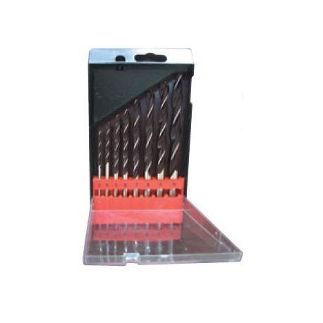 Brocas para madera de acero 3 a 10 mm ME-9028. Juego 8 piezas