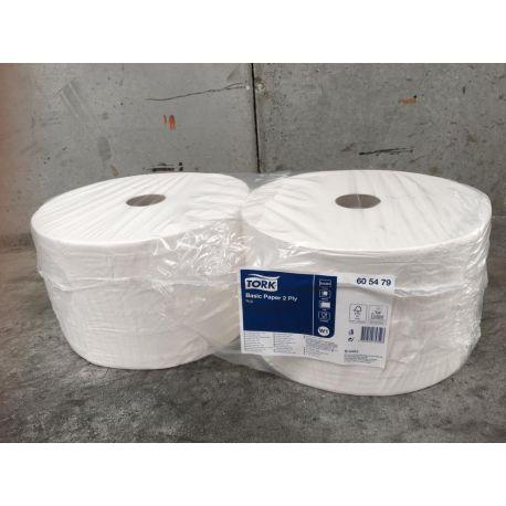 Bobines paper netejar cel·lulosa pura 2 capes Tork. Paquet 2x825 metres