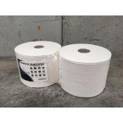 Bobinas papel  limpiar celulosa pura 2 capas Sauber. Paquete 2x900 metros