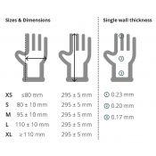 Guants examen nitril alt risc llargs talla L (8-9) GA0104. Capsa 50 unitats