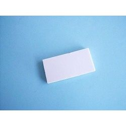 Placa porcelana porosa para rayar con minerales. Medidas 25x50