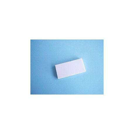 Placa porcellana porosa per a ratllar amb minerals. Mides 25x50 mm