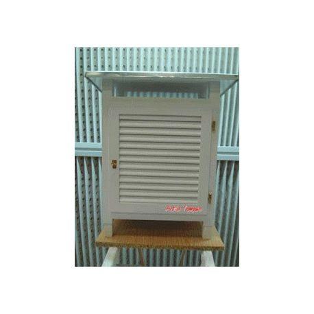 Caseta meteorológica con pata metálica. Capacidad 480x220x450 mm
