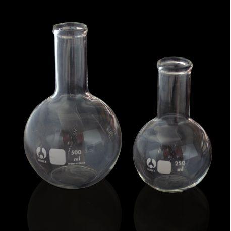 Matraz esférico vidrio fondo plano. Capacidad 250 ml