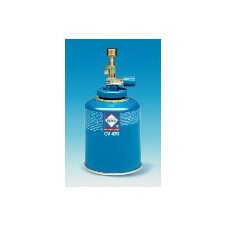 Mechero gas Labogaz acoplable cartuchos con válvula. Gas butano