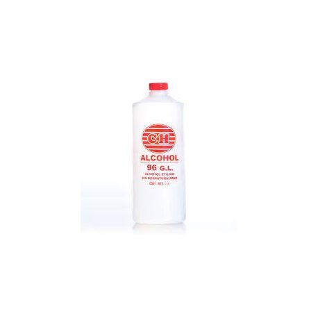 Alcohol etílico 96 grados antiséptico Gual. Frasco 1000 ml