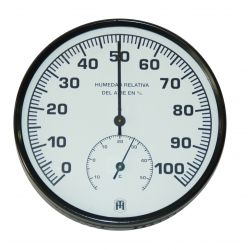 Higrómetro bimetálico Herter 3421. Carcasa plástico 130 mm