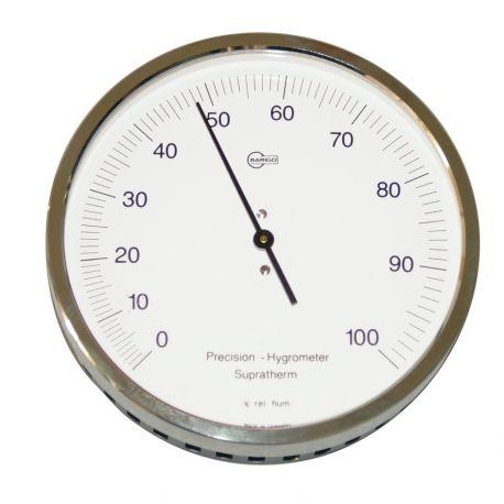 Higrómetro pelo sintético Herter 3518. Carcasa Metálica 100 mm
