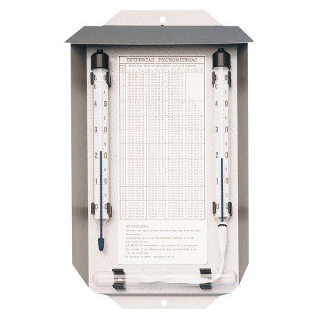 Psicròmetre termomètric Herter 4006. Escala 0 a 50 ºC en 0'5 ºC