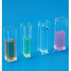 Cubetas espectrofotómetro plàstic PMMA paso 10 mm 1'5 ml. Caja 100 unidades