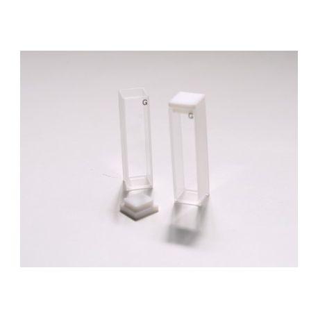 Cubetas espectrofotómetro vidrio óptico estándar paso 10 mm.