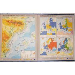 Mapa mural fisicopolític 880x1100 mm. Països Catalans-Europa s. XX