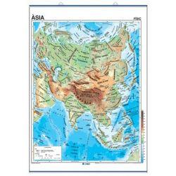 Mapa mural fisicopolítico 900x1300 mm. Asia