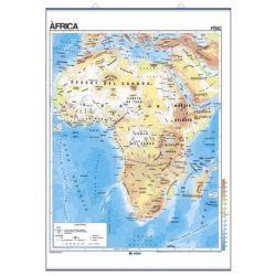Mapa mural fisicopolític 900x1180 mm. Àfrica
