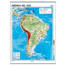Mapa mural fisicopolític 900x1180 mm. Amèrica del Sud