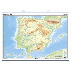 Mapa mural mudo rotulable 1400x1300 mm. Península ibérica