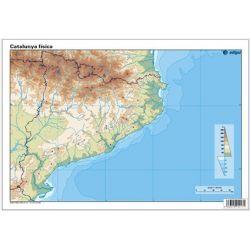 Mapes muts colors 330x230 mm. Catalunya física. Bloc 50 unitats