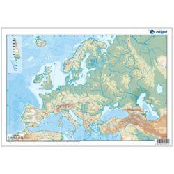 Mapes muts colors 330x230 mm. Europa física. Bloc 50 unitats