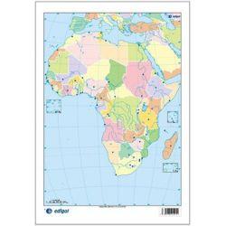 Mapes muts colors 230x330 mm. Àfrica política. Bloc 50 unitats
