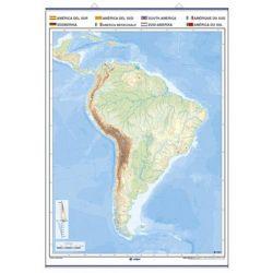 Mapa mural mudo rotulable 1000x1400 mm. América del Sur
