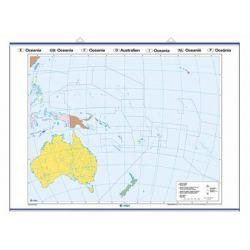 Mapa mural mut retolable 1000x1400 mm. Oceania