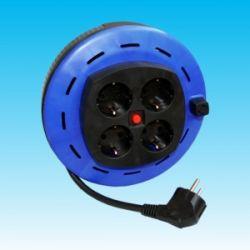 Alargador eléctrico 3x1'5 mm con 4 bases. Longitud 5 metros