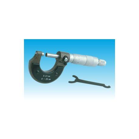 Micrómetro exteriores DH-215. Capacidad 0 a 25 mm en 0'01 mm