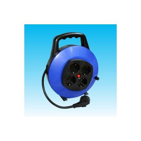 Alargador eléctrico 3x1'5 mm con 4 bases. Longitud 10 metros