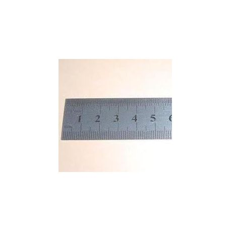 Regla semirrígida acero inoxidable mate milimetrado. Medidas