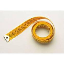 Centímetre confecció fibra groga 0'7 mm. Longitud 150 cm