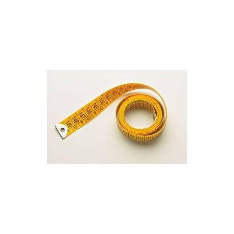 Centímetro confección fibra amarilla 0'7 mm. Longitud 150 cm