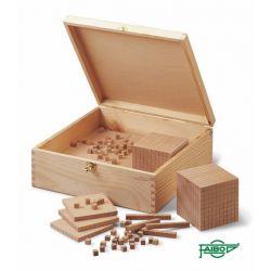 Blocs multibase fusta base 10. Capsa 190 peces